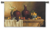 Oriental Still Life with Lilies Wall Tapestry by Loran Speck