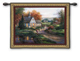 Sunday Services Wall Tapestry by T. C. Chiu