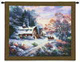 Snowy Evening Wall Tapestry by James Lee