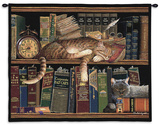 Remington the Well Read Wall Tapestry by Charles Wysocki