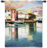 Harbor at Morning Light Wall Tapestry by Ramon Pujol