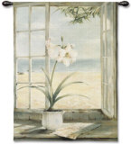 Ocean Amaryllis Wall Tapestry by Fabrice De Villeneuve