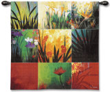 Tropical Nine Patch Wall Tapestry by Don Li-Leger
