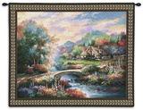 Country Bridge Wall Tapestry by James Lee