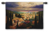 Village in the Sun Wall Tapestry by Max Hayslette