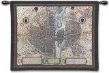 Mapa de París Tapiz