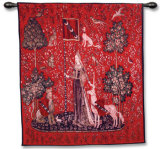 Lady and Unicorn - Sense of Touch Wall Tapestry