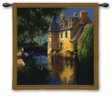 Little Canal Annecy Wall Tapestry by Max Hayslette
