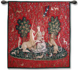 Lady and Unicorn - Sense of Sight Wall Tapestry