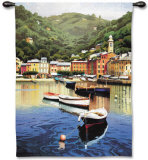 Harbor at Last Light Wall Tapestry by Ramon Pujol