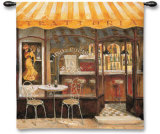 Italian Caf&#233; Wall Tapestry by Fabrice De Villeneuve