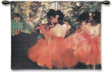 Ballerina in Rosa Wall Tapestry by Edgar Degas