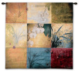 Orchid Nine Patch Wall Tapestry by Don Li-Leger