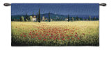 Tuscan Panorama Poppies Wall Tapestry by David Short