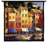 Portofino Waterfront Wall Tapestry by Michael O'Toole