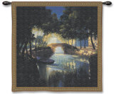 Blue Boat Wall Tapestry by Max Hayslette