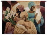 Caress Wall Tapestry by Keith Mallett