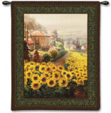 Fields of Gold Wall Tapestry by Roberto Lombardi