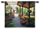 Paris Flower Market I Wall Tapestry by Montserrat Masdeu