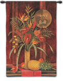 Tropical Arrangement Wall Tapestry by Debra Swartzendruber