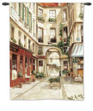 Promenade a Paris I Wall Tapestry by Fabrice De Villeneuve