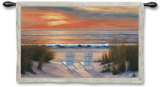 Paradise Sunset Wall Tapestry by Diane Romanello