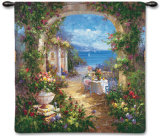 Mediterranean Arches II Wall Tapestry by Gabriela 
