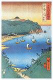 Inlet at Awa Province Plakater av Ando Hiroshige