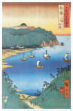 Inlet at Awa Province Poster van Ando Hiroshige