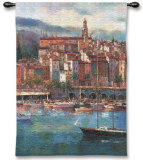 Mediterranean Harbor Wall Tapestry by Peter Bell