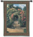 In the Garden Wall Tapestry by Peder Mork Monsted