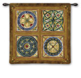 Rosette Wall Tapestry by Mary Beth Zeitz