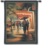 Second Street Drizzle Wall Tapestry by Carol Jessen