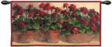 Potted Geraniums Wall Tapestry by Anita Phillips