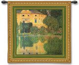Schloss Kammer Sull Attersee Wall Tapestry by Gustav Klimt