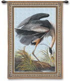 Blue Heron Wall Tapestry by John James Audubon