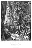 Don Quijote en su biblioteca Láminas por Gustave Doré