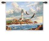 Boston Lighthouse Wall Tapestry by Rudi Reichardt