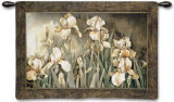 Field of Irises Wall Tapestry by Linda Thompson