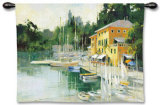 Portofino Heights Wall Tapestry by Marilyn Simandle