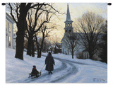 Winters Eve Wall Tapestry by Robert Duncan