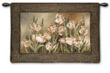 Tulips in Window Wall Tapestry by Linda Thompson
