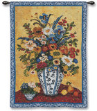 Suzannes Blue and White Wall Tapestry by Suzanne Etienne