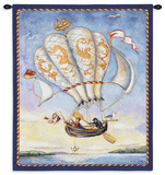 Airship Wall Tapestry by Alexandra Churchill