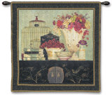 Song Bird Bouquet Wall Tapestry by Kathryn White