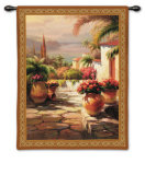 Courtyard View I Wall Tapestry by Roberto Lombardi