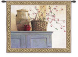 Hawthorne Berries Wall Tapestry by Ronald Lewis