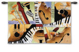 Jazz Medley I Wall Tapestry by Tom Grijalva