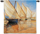 White Sails I Wall Tapestry by Jaume Laporta