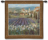 Provencal Village Wall Tapestry by Michael Longo